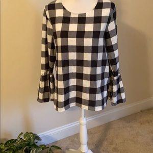 Velvet Heart long sleeved plaid top